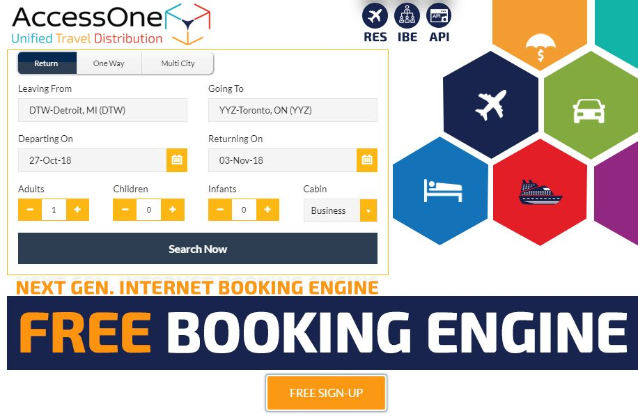 Free Travel Booking Engine- Airlines, Hotel, Car Rental