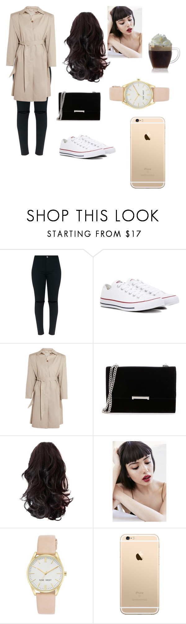 """""""Untitled #10"""" by carolinegrace072 on Polyvore featuring beauty, Converse, Balenciaga, Ivanka Trump, Obsessive Compulsive Cosmetics and Nine West"""