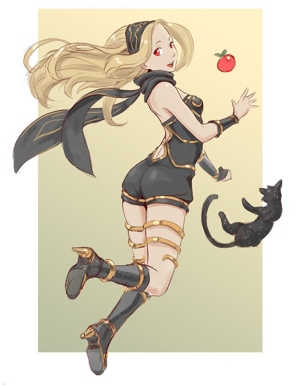 Gravity Daze Dusty And Kitten By Cheshirrr Anime Characters Kitten Manga Anime