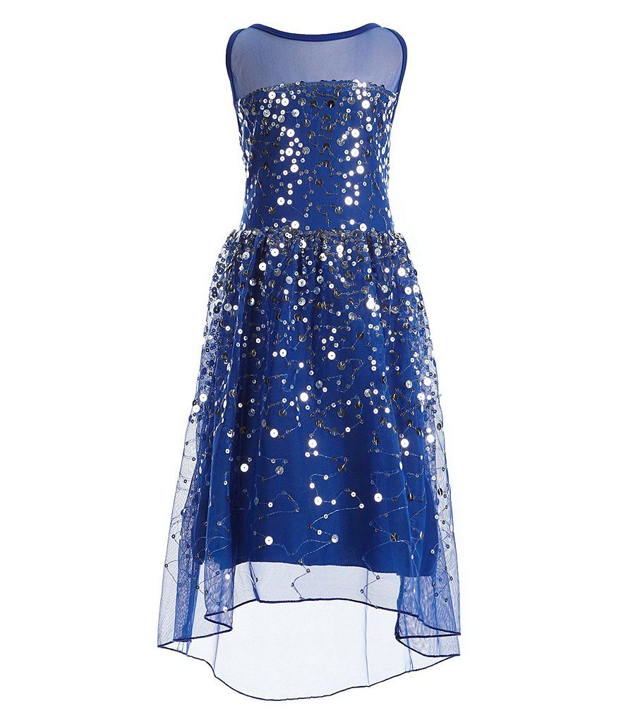 f0d7814b2 Shop for Poppies and Roses Big Girls 7-16 Sequin Illusion High-Low ...