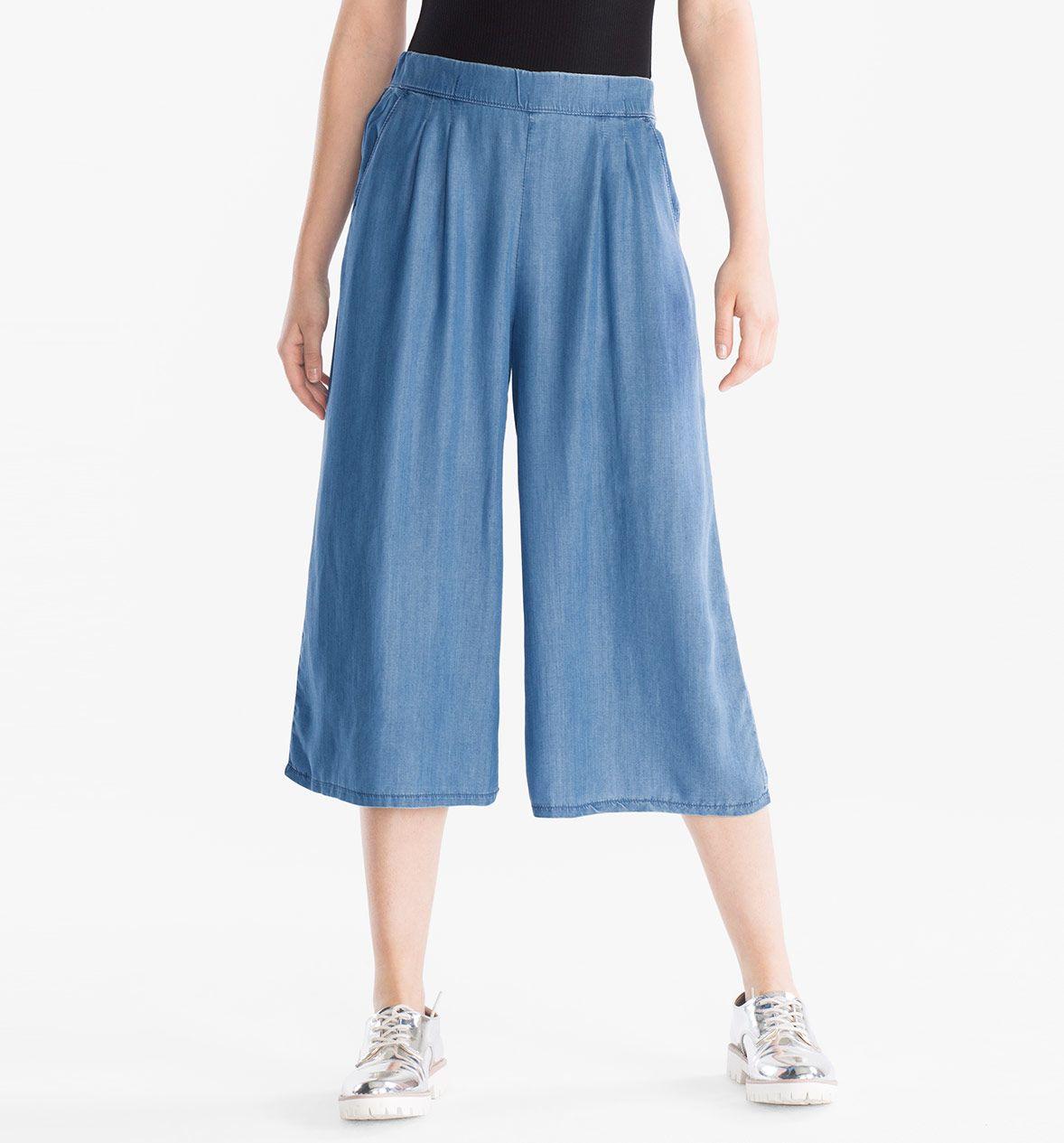 Broek in jeansblauw