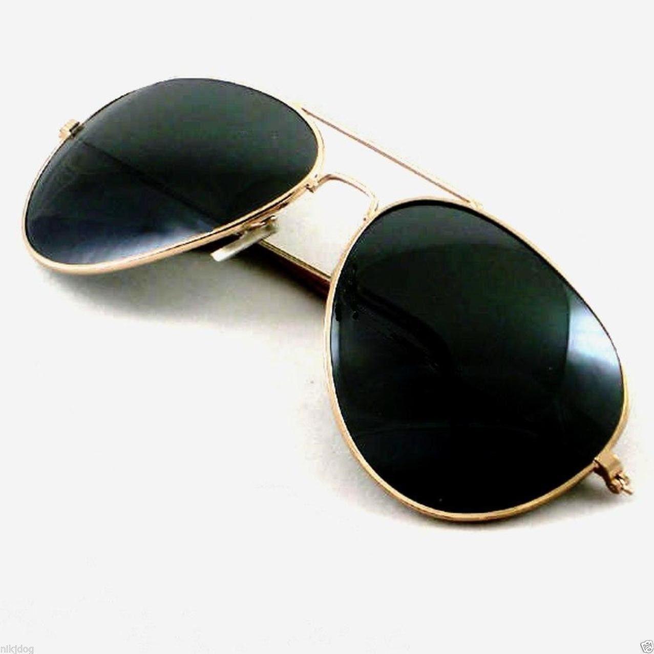 a66ac2dd546 Aviator Sunglasses Gold Frame Dark Black Lenses Oversized Extra Large