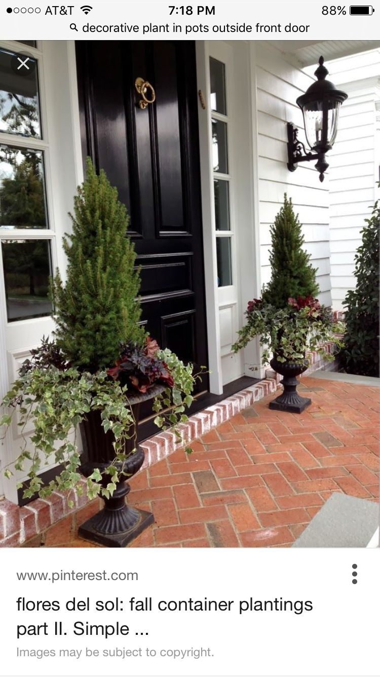 Front door   Front porch flowers, Front door planters, Front ... on house front porch ideas, house front patio ideas, house front wall ideas, house front garden ideas,