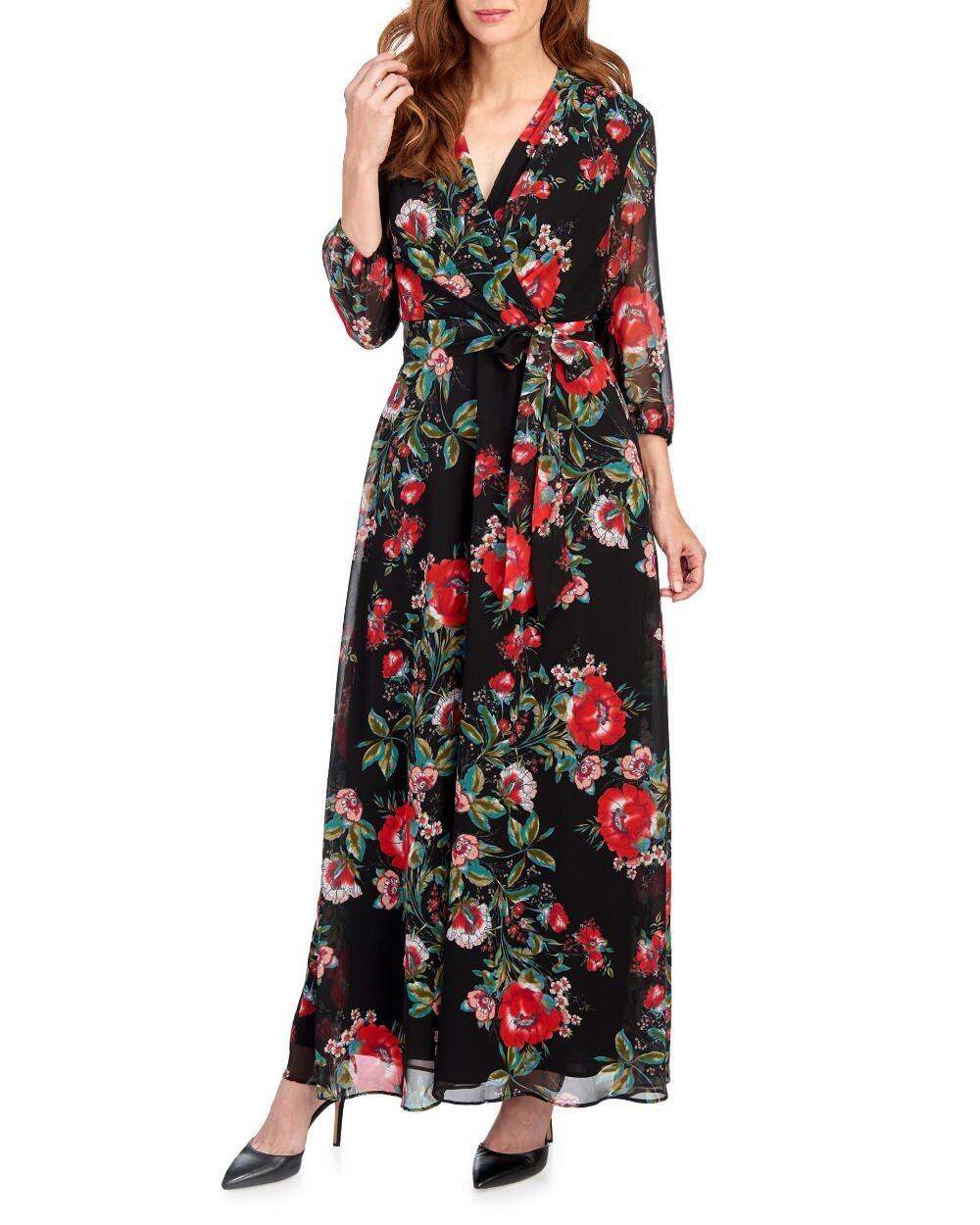 Floral Wrap Maxi Dress Stein Mart Floral Wrap Maxi Dress Maxi Wrap Dress Maxi Dress [ 1250 x 1000 Pixel ]
