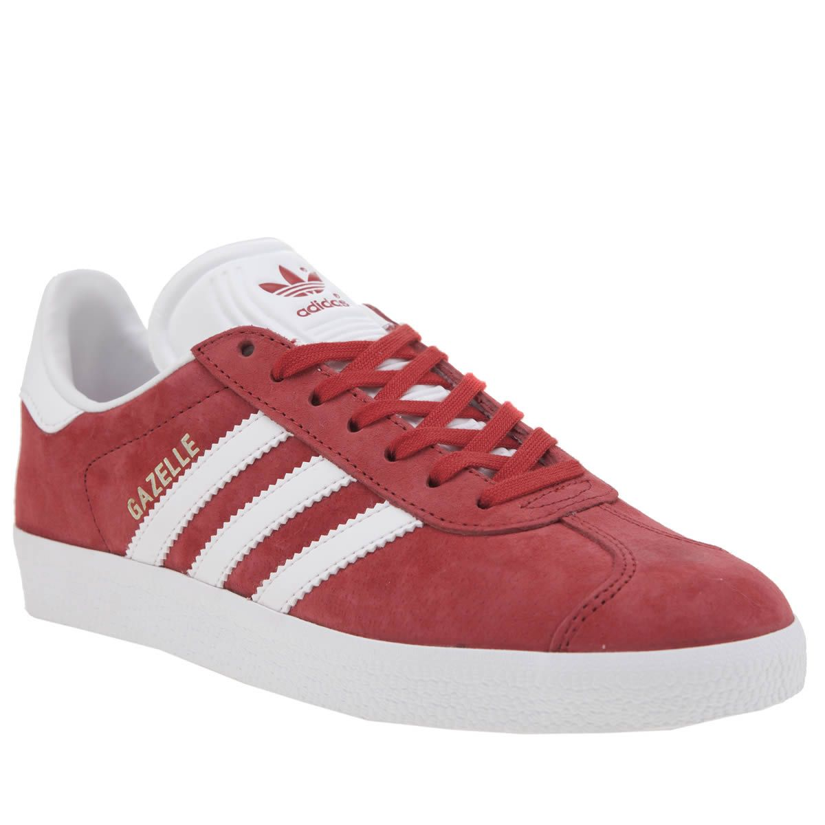 womens adidas red gazelle suede trainers