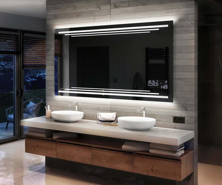 Artforma Badspiegel Mit Led Beleuchtung Nach Mass In 2021 Badspiegel Led Badspiegel Mit Led Beleuchtung Badezimmerspiegel