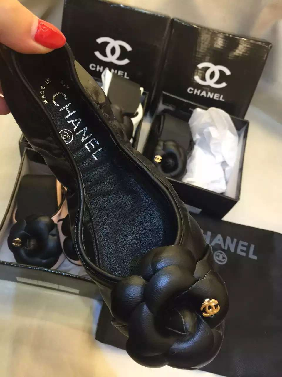 08fe0d332229 Chanel souft shoes black soft trotters shoes pointed foldable with matched  flower color women shoes flats shoes comfortable dancing shoes   25.73include ...