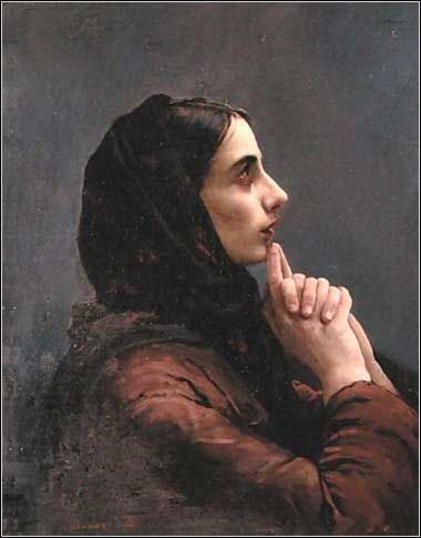 Young Woman at Prayer by Vasilij Surikov, ca. 1879.