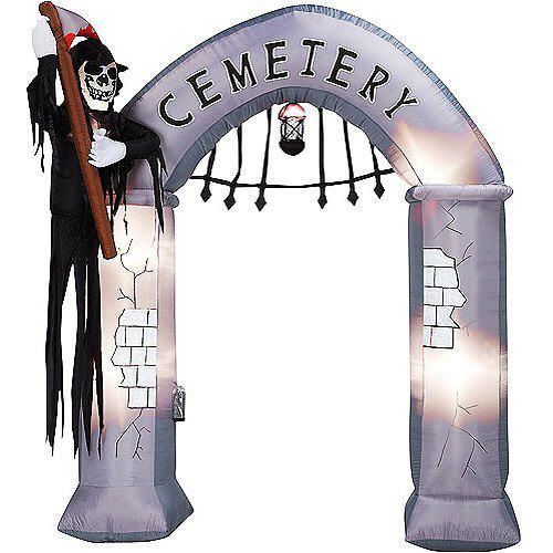 outdoor halloween decorations cemetary archway gate inflatable - Outdoor Inflatable Halloween Decorations