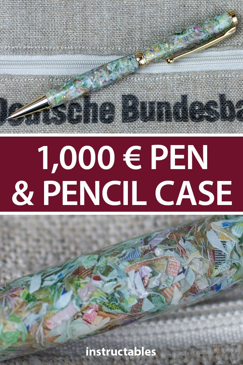 1,000 € Pen and Pencil Case in 2020 Unique pens, Pencil
