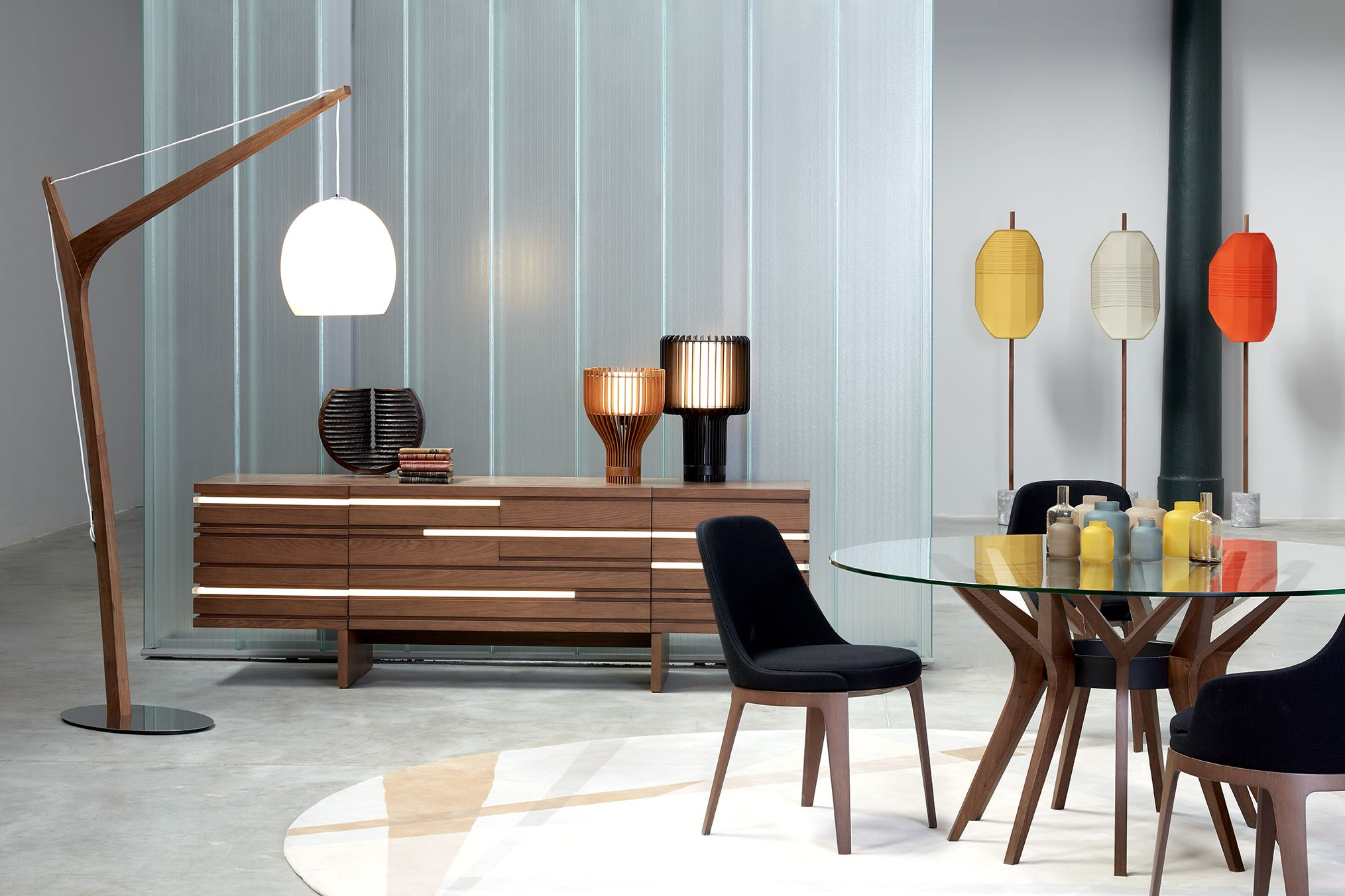 Roche Bobois Aster Dining Table Designed By Reda Amalou Layers Sideboard Designed By Luigi Gorgoni
