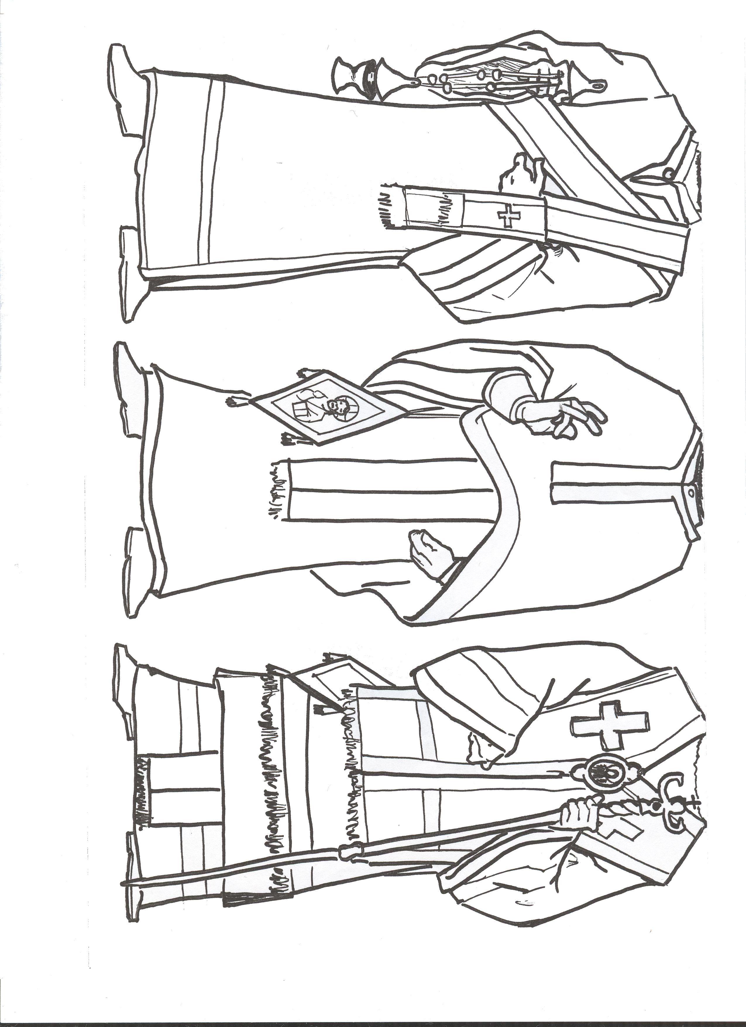 Vestiduras litúrgicas de Diacono, Presbitero y Obispo