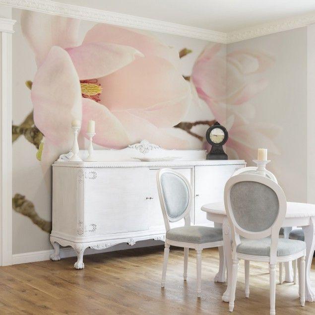 Vliestapete - #Blumentapete Royal Magnolia Fototapete Breit - einrichtung stil pop art