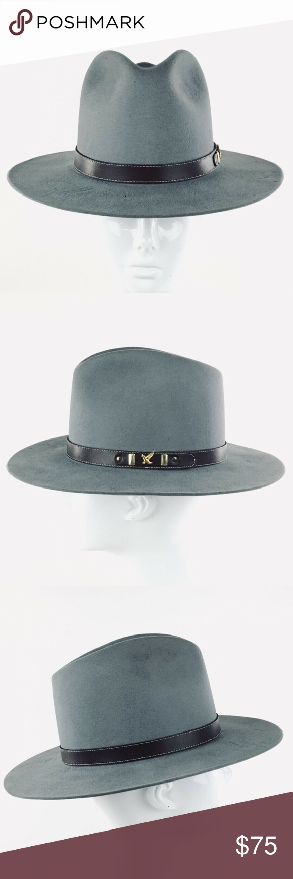 7f49afbec9a7f Rands Custom Gray Felt Hat 6 7 8 made for Swarovsk Gray Felt made for  Swarovski Optik Handwritted in the brim is 6 7 8 12 24 99  SW-237 KSB Rand s  Custom ...
