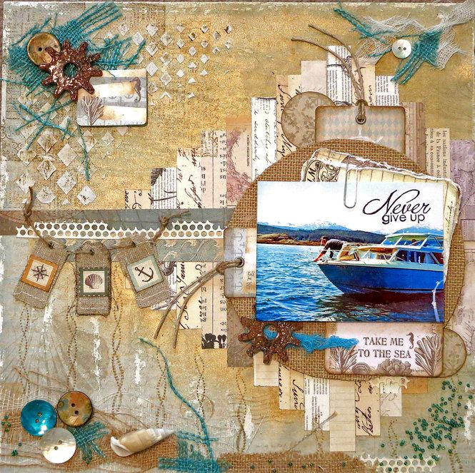 Layout: Never Give Up **Scraps of Elegance** DT May Kit