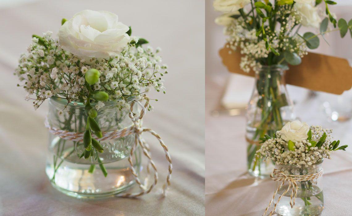 Decoration Petit Pot De Fleur mariage de marion à la chapelle saint bacchi - un fleuriste