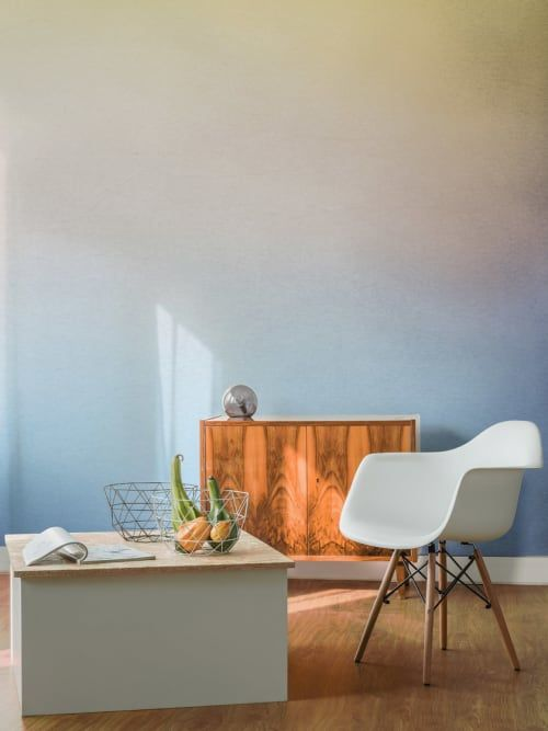 Funktionieren auch im Vintage Look Diese Tapeten im Ombré-Look - retro tapete wohnzimmer