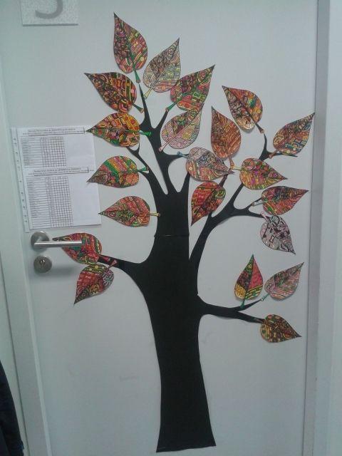 Ma classe ma porte d 39 automne coloriage site crapouillerie pinterest school school - Dessin d arbre en automne ...
