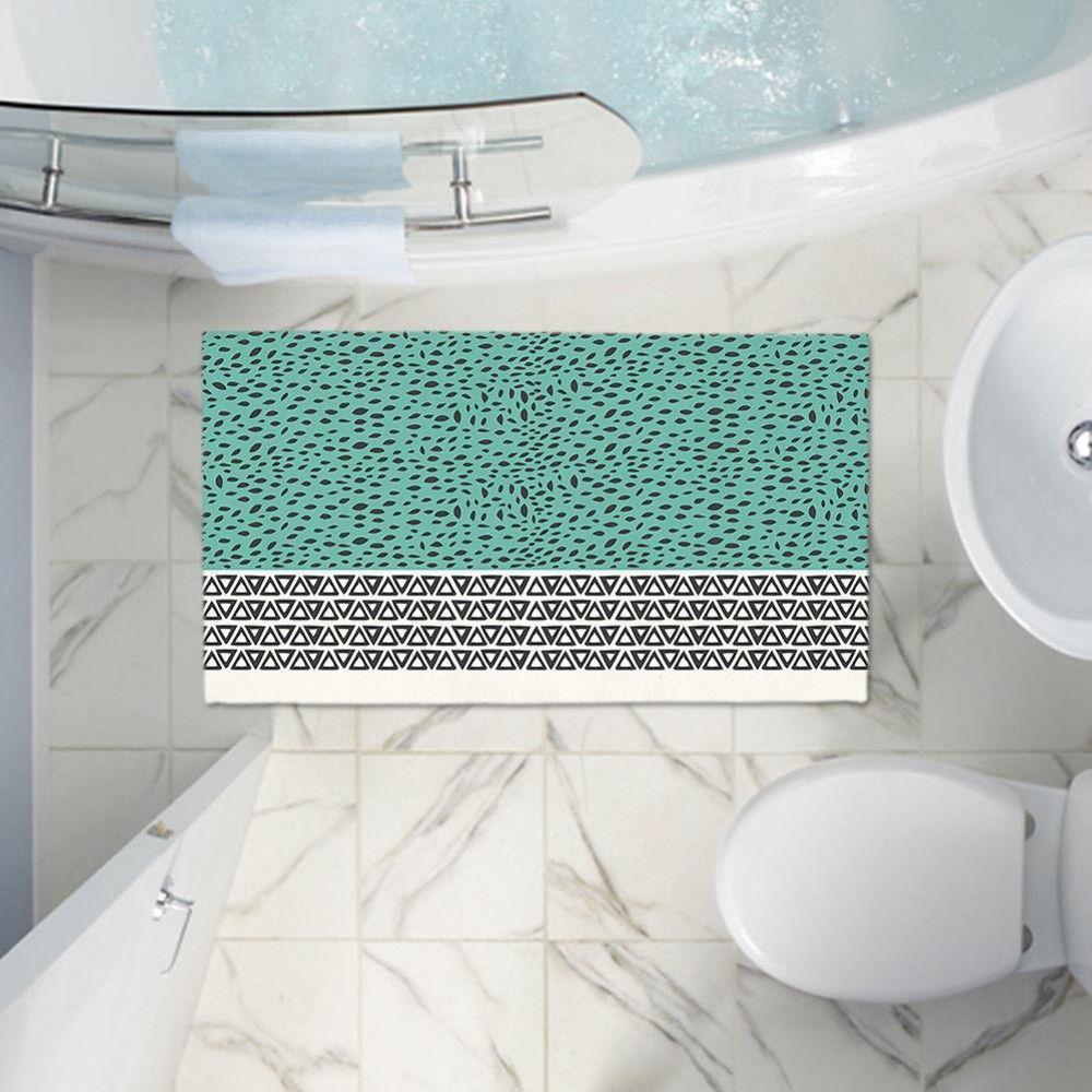 Bathroom Mats By Pom Graphic Design River Aqua Path Design Washing Clothes Towel Set