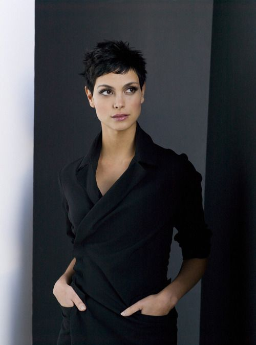"Morena Baccarin- Inara on ""Firefly,"" Adria on ""Stargate,"" Anna on ""V.""  She's just so creepy-beautiful, with the long neck and the piercing eyes and the perfect cold equanimity she brings to each role she plays."