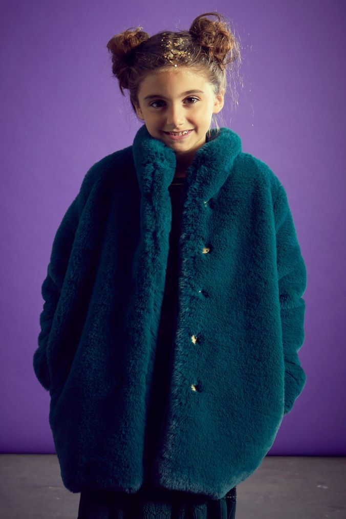Outside The Line Green Green Fur Coat | Green fur, Green ...