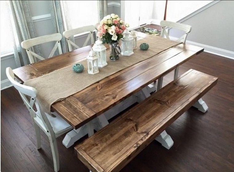 15 id es de table de ferme pour une salle manger - Relooking salle a manger rustique ...