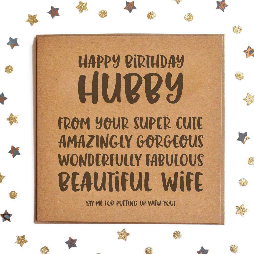 Happy Birthday Hubby Square Card in 2020 Happy birthday