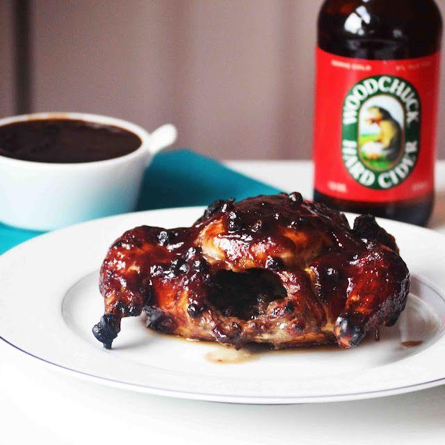 Cornish Game Hens Slathered in Woodchuck Cider BBQ Sauce