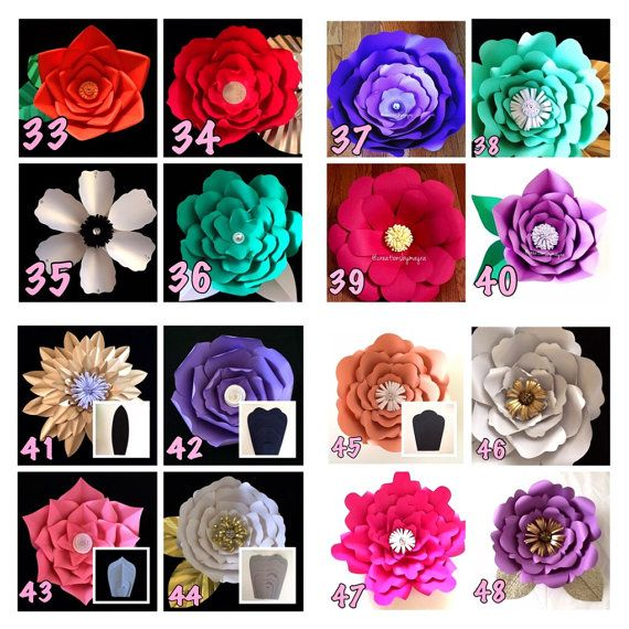 Create your own paper flowers using cbm templates this listing is digital paper flower templates price is for one template style read description diy paper flowers mightylinksfo
