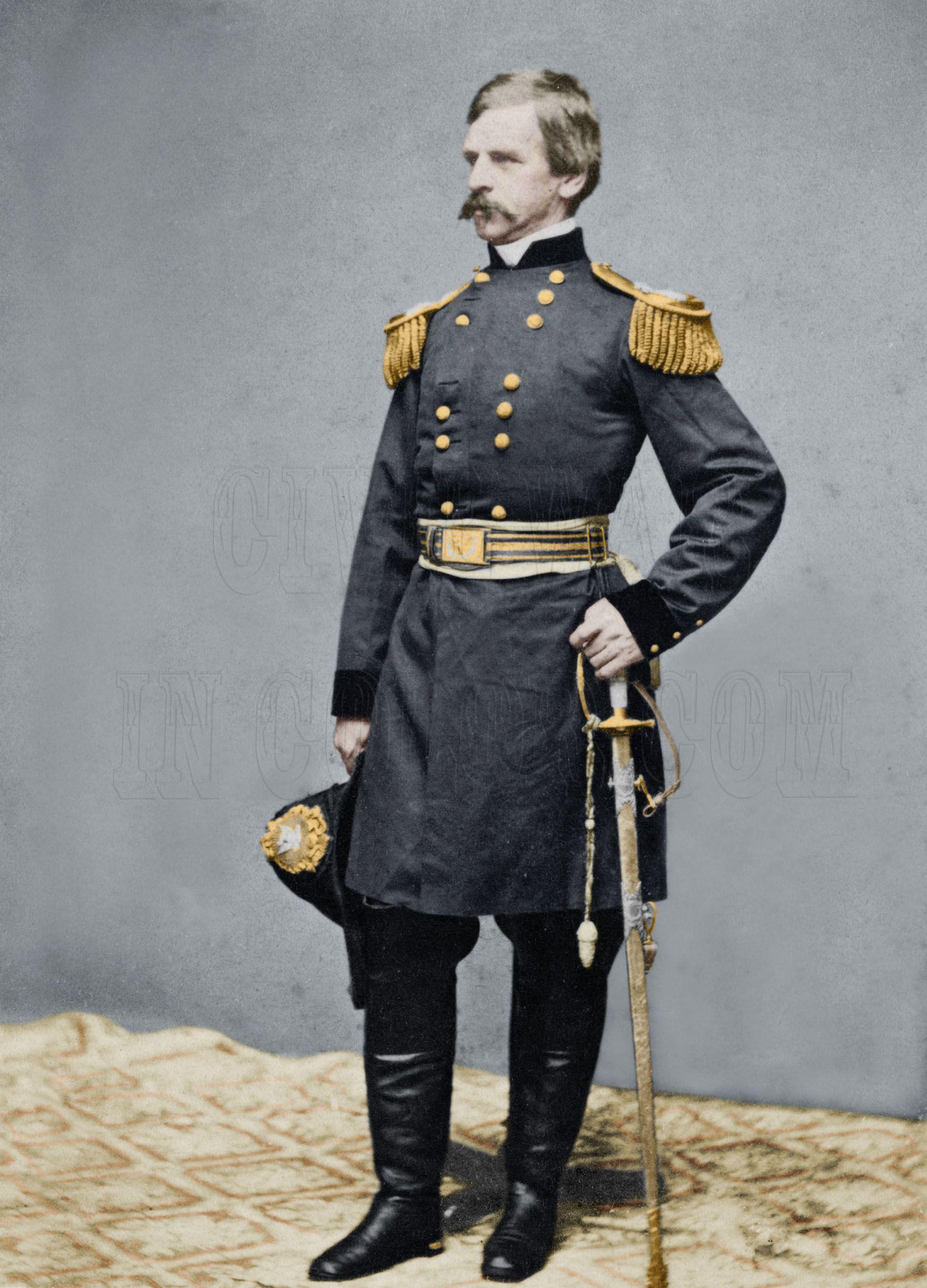 Union General Nathaniel Prentiss \'Bobbin\' Boy\' Banks   Colorized ...