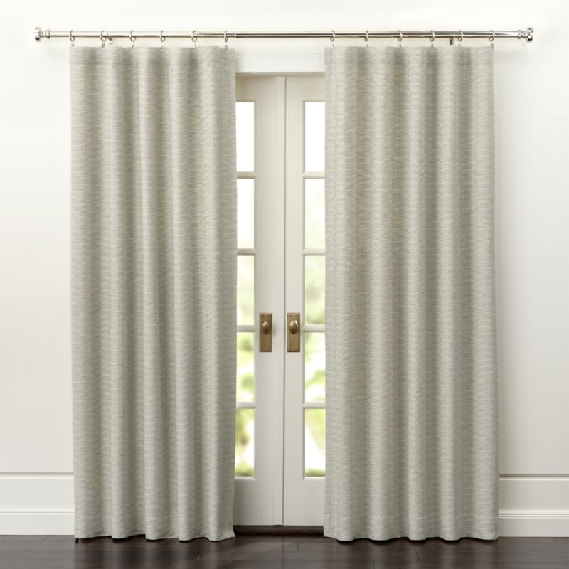 Crate & Barrel Desmond Silver/Cream Curtain Panels | Cream curtains ...