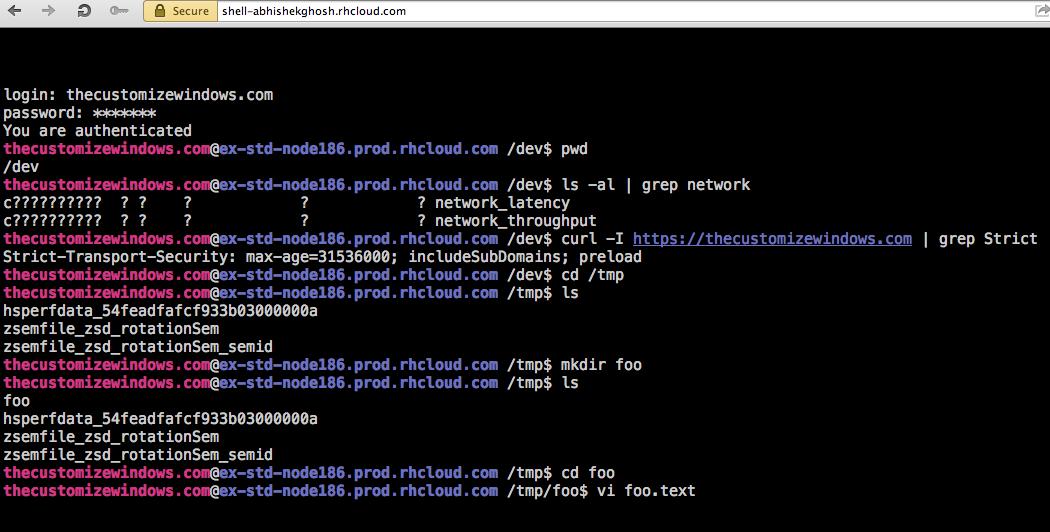 Linux Webshell