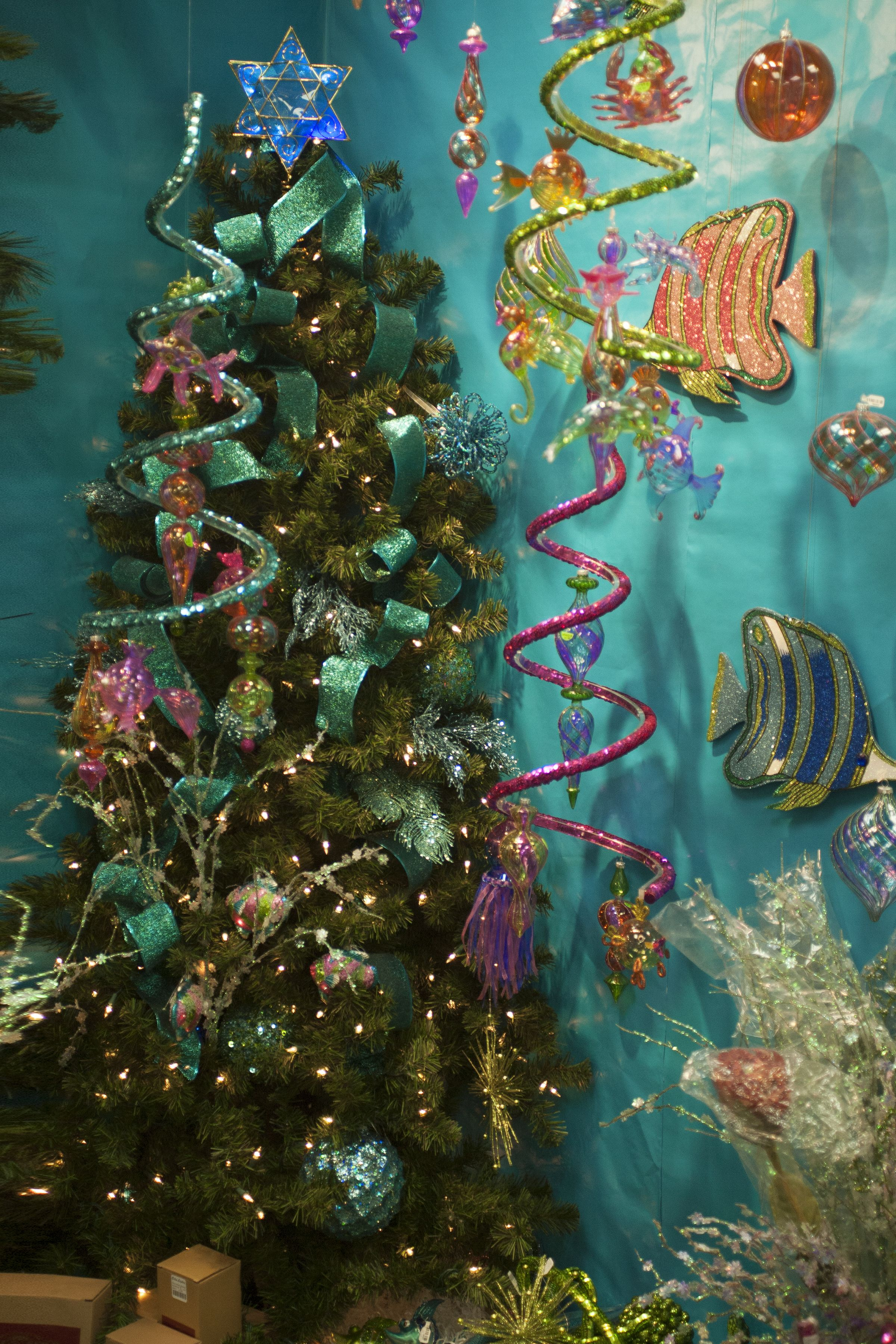 Less Traditional Holiday Decor Create An Underwater Wonderland Hanukkah Christmas Chrismukkah Hanukkah Tree Topper Tree Toppers Interfaith Holidays