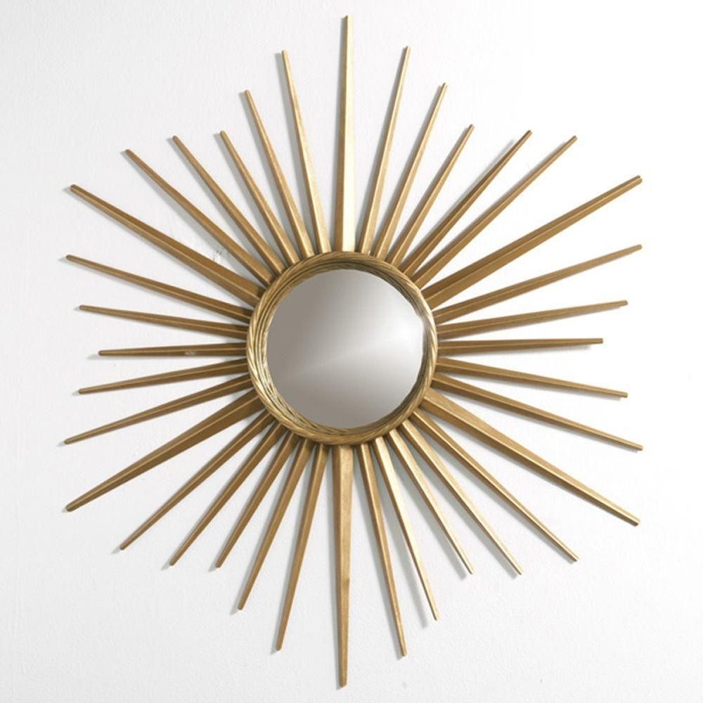 Gentil Martha Stewart Living Wales 30 In. X 30 In. Metal Antique Gold Framed Mirror 72930  At The Home Depot