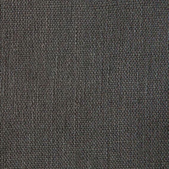 Charcoal Grey Belgian Linen Fabric