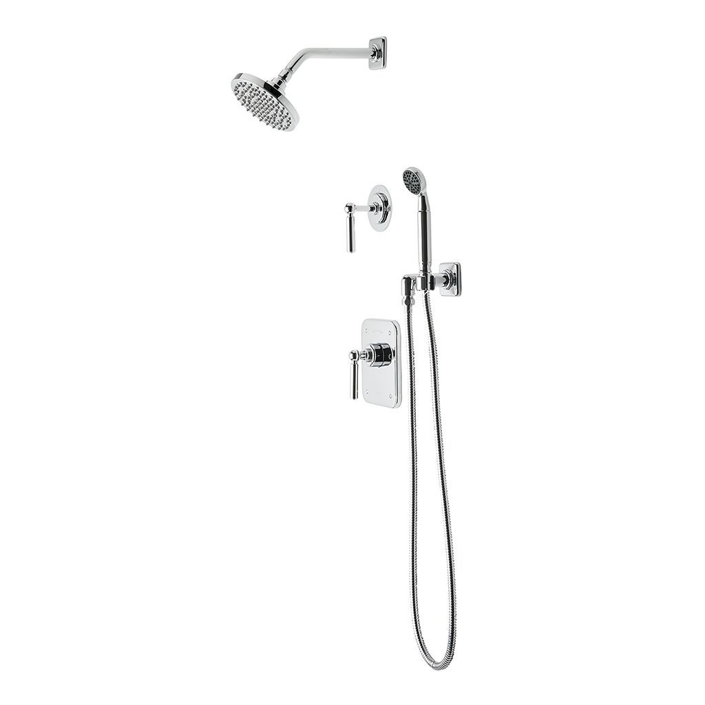 Discover Ludlow Pressure Balance Shower Package with 6\