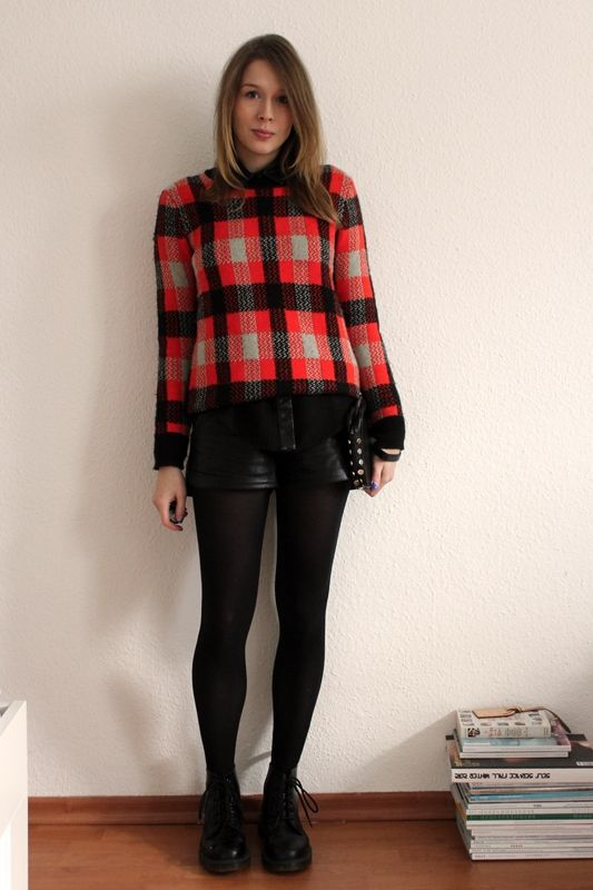 Sweater by Asos, Shorts by H, Boots by Dr. Martens