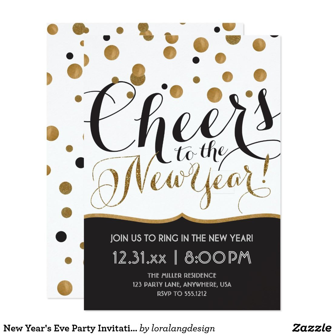 New Year's Eve Party Invitation   New years eve ...