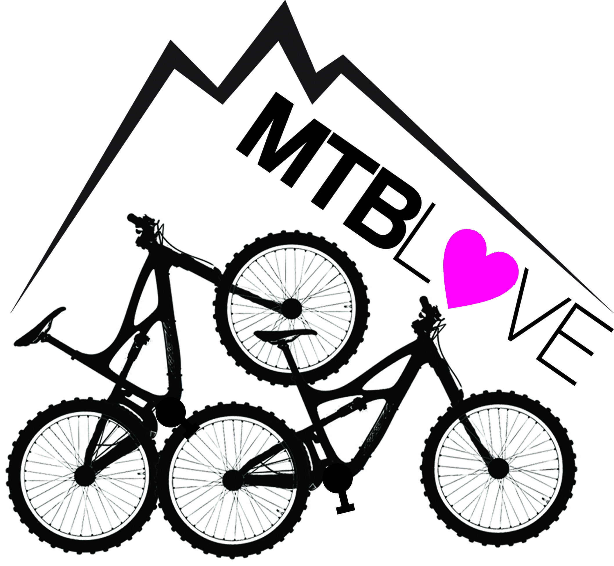 mountain bike apparel logo mtb black and white logo biking ...
