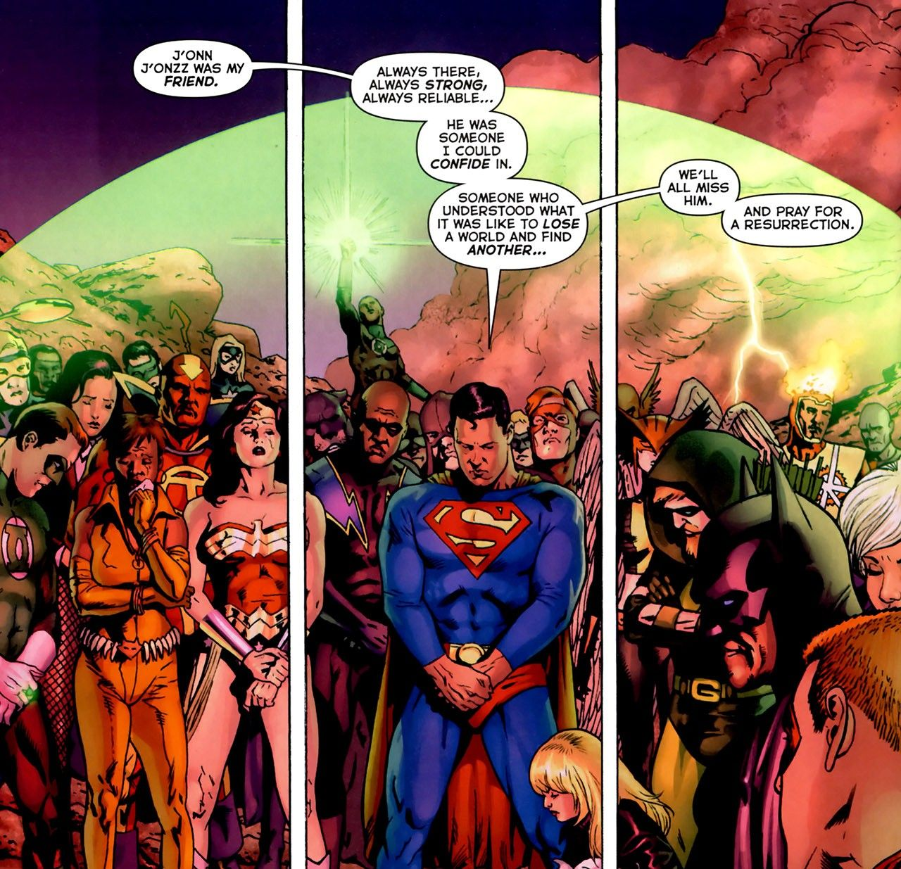 Image result for final crisis #2 pray for a resurrection