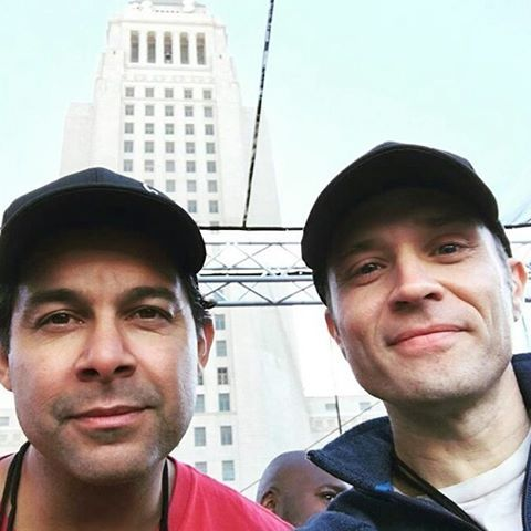 Awww this makes me so happy. Missed them seeing them together so much!!  @seamuspatrickdever @jon_huertas #jonhuertas #seamusdever #castle #bromance