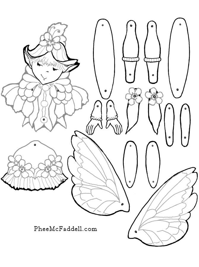 stella fairy puppet coloring paper puppets paper toys paper dolls. Black Bedroom Furniture Sets. Home Design Ideas
