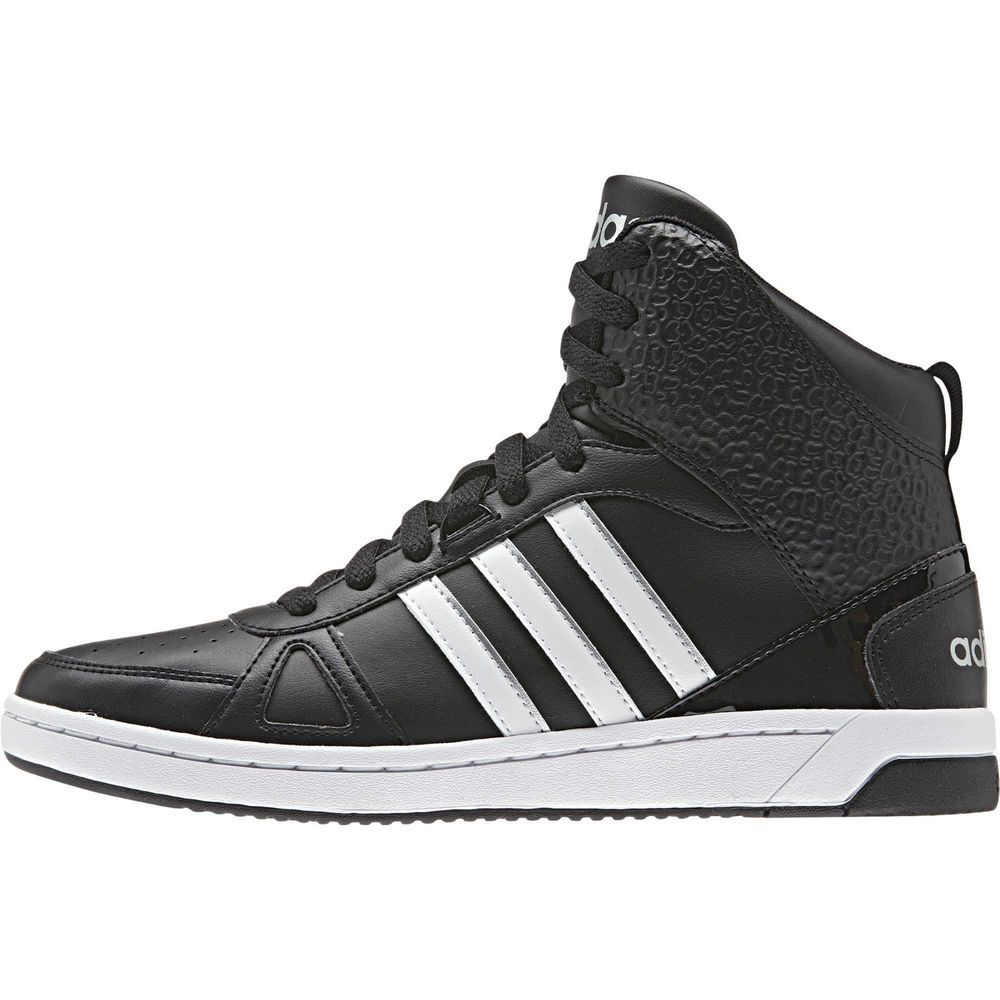 Adidas NEO Hoops Team Mid Women Ankle Sporty Shoes Black F98895