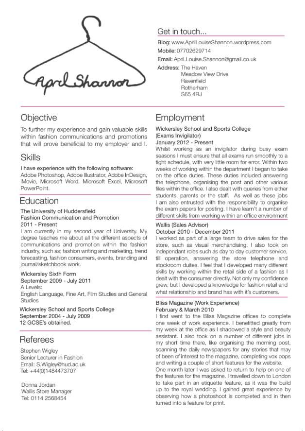 Fashion Buyer Cv Google Search Fashion Resume Resume Skills Retail Resume Examples