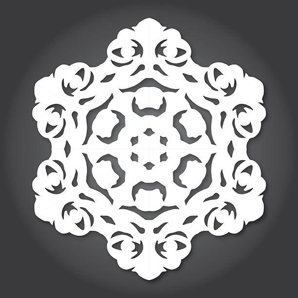 Jabba The Hutt snowflake pattern download - Star Wars | Geektastic ...