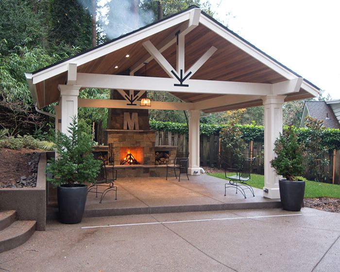 I Like This Whole Look Except I Would Like The Trusses To Be A Little More Substantial On The From And I D Outdoor Pavilion Backyard Pavilion Backyard Gazebo