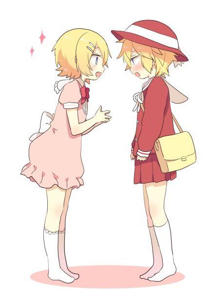 """""""Kagamine Len"""" """"Kagamine Rin"""""""