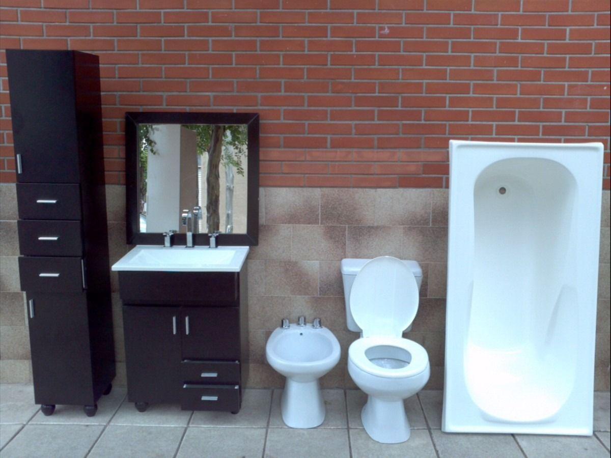 juego de baño sanitarios vanitory accesorios griferia espejo ... - Griferia Para Bano En Mercado Libre