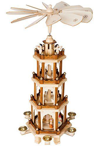BRUBAKER Weihnachtspyramide aus Holz 4 Etagen NEU 60