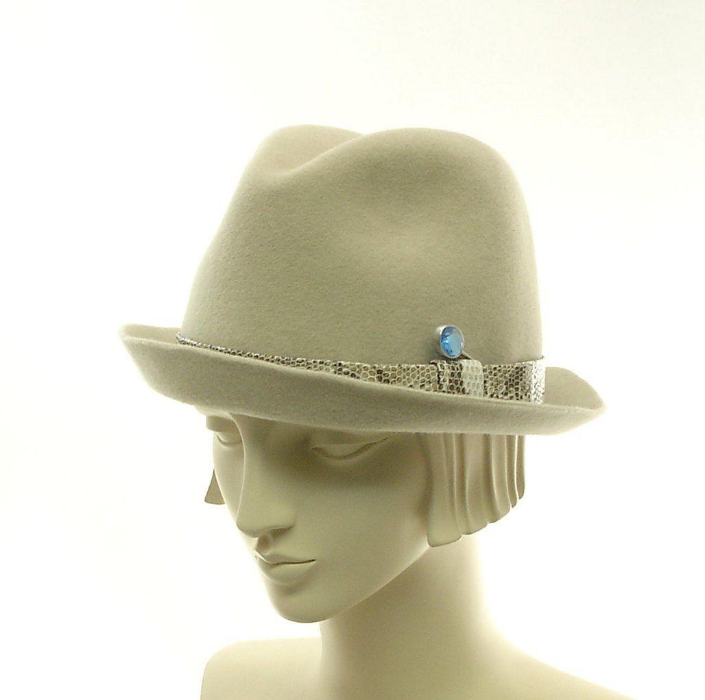 Fedora Hats  White Felt Fedora Hats For Women  Fedoras -6982